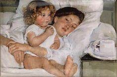 Mary Cassatt, Edgar Degas, Pierre Auguste Renoir, Manet, Berthe Morisot, Breakfast In Bed, Fine Art, Mother And Child, Oeuvre D'art