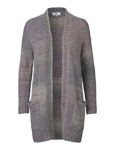 Long knitted cardigan - Nude