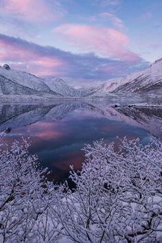 Frozen Mountain Sunset #BeautifulNature #NaturePhotography #Nature #Photography #Sunset #Reflections #Frozen