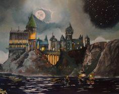 Hogwarts-Gemälde Print hergestellt aus von TheColorfulCatStudio