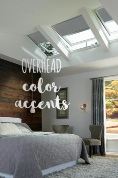 Check out this fifth wall design tip and learn how to use overhead color accents.