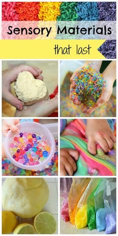 10 sensory materials that can be stored and used again and again - save money wh. 10 sensory materials that can be stored and used again and again - save money while still enjoying incredible sensor Autism Sensory, Autism Activities, Infant Activities, Activities For Kids, Activity Ideas, Color Activities, Craft Ideas, Sensory Tubs, Sensory Boxes