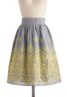 Landscape Layout Skirt, #ModCloth