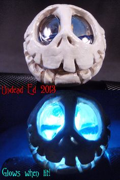 Jack Skellington Sculpted Hand Blown Glass Pipe By by Zoombiez,