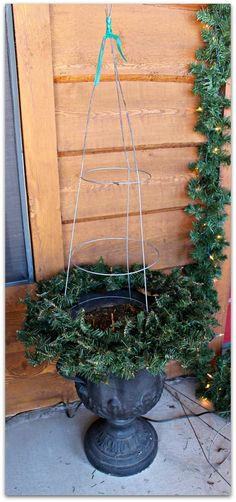 Three Mango Seeds: TOMATO CAGE CHRISTMAS TREES & A FRONT PORCH TOUR