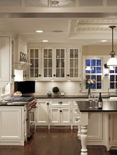 Excellent Residence Design With Traditional Look : Fascinating Project 'Thirty Four' Kitchen Design White Tile Backsplash