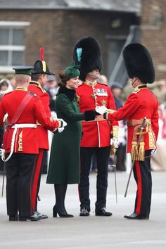 Glowing Kate Middleton gets the giggles again as she hands out shamrocks to Irish Guards on St Patrick's Day - Mirror Online