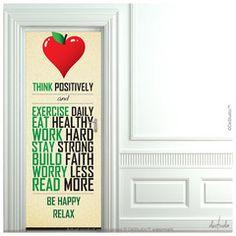 Think Positively Door Mural