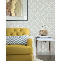 "Symetrie Origin Quatrefoil 33' x 20.5"" Geometric Wallpaper | Wayfair"