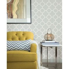 "Symetrie Origin Quatrefoil 33' x 20.5"" Geometric Wallpaper   Wayfair"