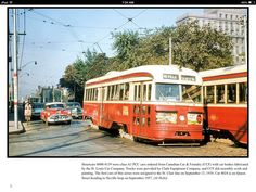 Toronto, Light Rail, Car Painting, Back In The Day, Ontario, Nostalgia, Mexico, Canada, Busses