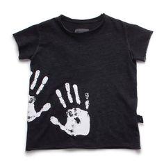Hand Print Raw Edge T Shirt by Nununu