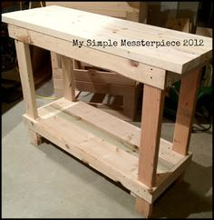 DIY Primitive Table-would love this as an island in my kitchen.