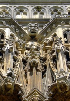 Detail, south-west porch, Canterbury Cathedral 2