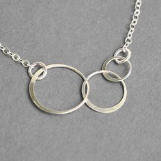 Interlocking Circle Necklace -  Sterling Silver Infinity Three Cirlce Necklace - Eternity Necklace - Sterling Silver Jewelry Handmade on Etsy, $29.00