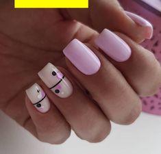 Cute Acrylic Nails, Cute Nails, Pretty Nails, Short Nail Designs, Nail Art Designs, Stylish Nails, Perfect Nails, Short Nails, Blue Nails