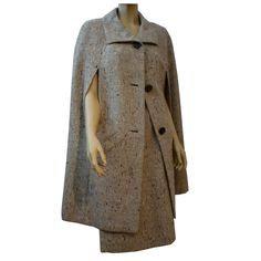 Smart Norman Norell Tweed Cape and Matching Skirt