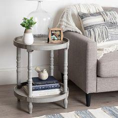 Side Table Decor, Table Decor Living Room, Living Room End Tables, Wooden Side Table, Sofa End Tables, End Tables With Storage, Living Room Furniture, Round End Tables, Side Table Styling