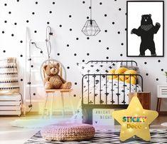 Αυτοκόλλητα μαύρο ΠΟΥΑ / STICKERS ΣΕΤ 100τεμ. Polka Dots, Wall Decor, Kids Rugs, Night, Decoration, Home Decor, Wall Hanging Decor, Decor, Decoration Home