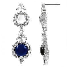 Sileny's Sapphire Cabochon Dangle Earrings
