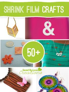 Projects to make from shrink plastic, #shrinkfilmjewelry #shrinkfilmcrafts