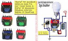 skema joule thief 3,7v to 220v ac led light