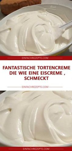 Fantastic cake cream that tastes like ice cream - Backen, Backtips, Cremes, Toppings u. - Fantastische Tortencreme, die wie eine Eiscreme schmeckt Fantastic cake cream that tastes like ice cream - Cookie Recipes, Dessert Recipes, Ice Cream Desserts, Sweet Cakes, Cakes And More, Cake Cookies, No Bake Cake, Love Food, Food Cakes