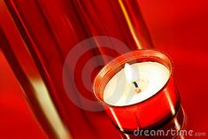 Closeup of a  night light  on red background.
