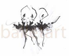 Items similar to Ballet Art Print Wall Art Black and White Interior Design Prints Illustrations mixed media home decor gift for her Without The Fourth Swan on Etsy Ballet Drawings, Dancing Drawings, Ballerina Drawing, Ballet Art, Ballet Painting, Dance Ballet, Black And White Interior, Wire Art, Artwork Prints