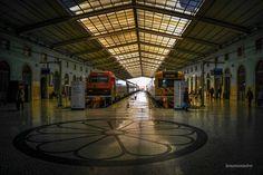 Train Station... - Santa Apolonia,Train Station Lisbon, Portugal, Europe Urban Exploration, Train Station, Skyscraper, Louvre, Europe, Lisbon Portugal, City Buildings, Explore, Urban Design