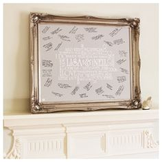 Vintage Guest Book Canvas #Wedding Gifts http://www.giftgenies.com/presents/vintage-framed-signing-canvas