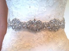 Vintage style bridal sash wedding sash by FlorenceandRose on Etsy, $89.00
