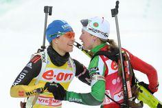Magdalena Neuner & Darya Domracheva