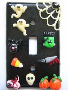 Light Switch Plates- Halloween and Gnomes - POTTERY, CERAMICS, POLYMER CLAY