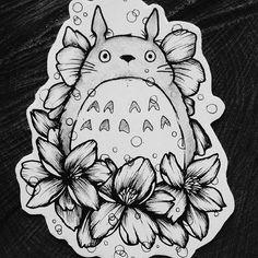Any Miyazaki fans?  Totoro wolny i do wzięcia, więc zapraszam  #totoro #ghibli #miyazaki #cartoon #drawing #cute #movie #tattoosforgirls #tatt #tattoo #tattooidea #tats #totorotattoo #lovely #tattoodesign #girltattoo #tatuaż #flowertattoo #lodztattoo #lodz #sunday #instaartist