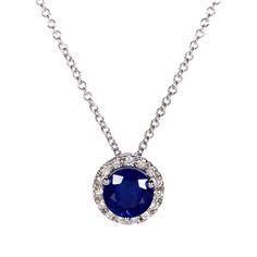 Bring on the bling with this elegant necklace, especially designed for ladies passionate about vintage-inspired jewelry. The beautiful blue sapphire gem speaks loud about the magical vibe of this neck