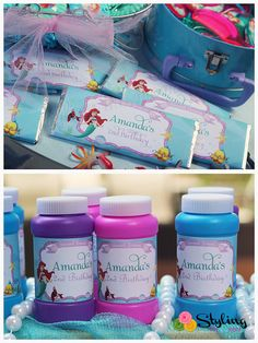 Little Mermaid Candy Wrappers by Stylingthemoment on Etsy, $8.00