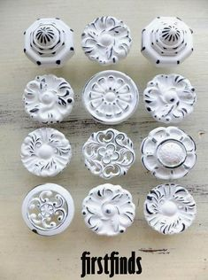 12 Misfit Knobs Shabby Chic White Kitchen Reno Cabinet Pulls Vintage Pantry Reclaimed Bathroom Hardware Drawer Pulls Cupboard Pull #shabbychicbathroomsdiy