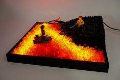 The high ground - Light and LEGO combine to bring Mustafar to life in this Star Wars diorama Alessandro Rizzello combines light and LEGO to capture an iconic moment from the Star Wars prequels: Anakin and Obi-Wan's confrontation on Mustafar