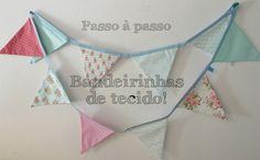 Bandeirinhas de tecido para decorar parede  DIY
