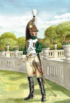First French Empire, French Army, The Empress, Napoleonic Wars, Green And Gold, Military, History, Artwork, Pictures
