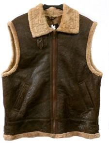 www.hiphopcloset.com - Sheepskin Mens Dark Vest