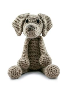 Part of the brand new collection of amigurumi crochet dogs designed by Kerry Lord. This amigurumi Weimaraner is crocheted in TOFT aran yarn and makes the perfect gift for adults and children alike. THIS KIT CONTAINS:  300g of Aran Yarn in a colour of your choice (shown here in stone) wrapped up in a TOFT cotton tote.  To complete your weimaraner you will need toy stuffing plus a scrap of black thread for eyes and nose. You can download the pattern in a universal A4 format from a link which…