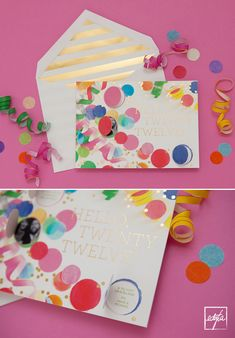cheree berry pop up party invitations