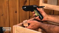 Your dining room chairs will most likely go through a good bit of wear and tear over their lifetime, so you should make sure that you've reinforced their structural components. George Vondriska demonstrates the simple process for installing corner braces on your wooden chairs using a HiPURformer Advanced Bonding System hot glue gun from Titebond.