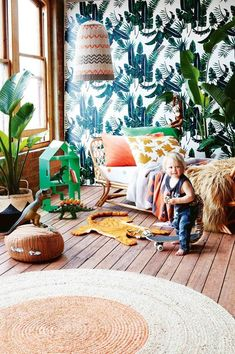 7 ideas for a jungle-themed kids' room. Photography by Armelle Habib. Styling by Julia Green. From the December 2016 issue of Inside Out magazine. Available from newsagents, Zinio, https://au.zinio.com/magazine/Inside-Out-/pr-500646627/cat-cat1680012#/ Go