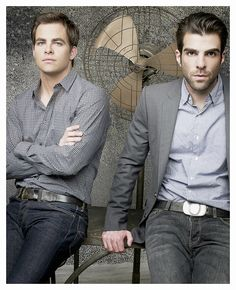 Chris Pine and Zachary Quinto. Yup.