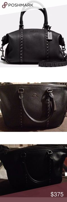 Authentic Black Leather Coach Purse Brand new authentic leather black Coach purse. The perfect size for everyday use! I love this but got it for a gift and already have one almost identical to this. Coach Bags Shoulder Bags