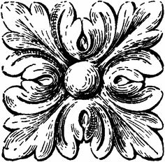 Black and White Vintage Ornament Image! - The Graphics Fairy