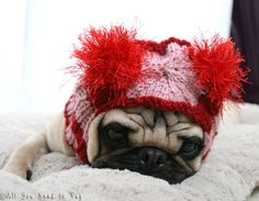 Sweet Valentine Dog Hat by All You Need Is Pug Shop on Etsy #dogsgifts #dogstyle #giftideas